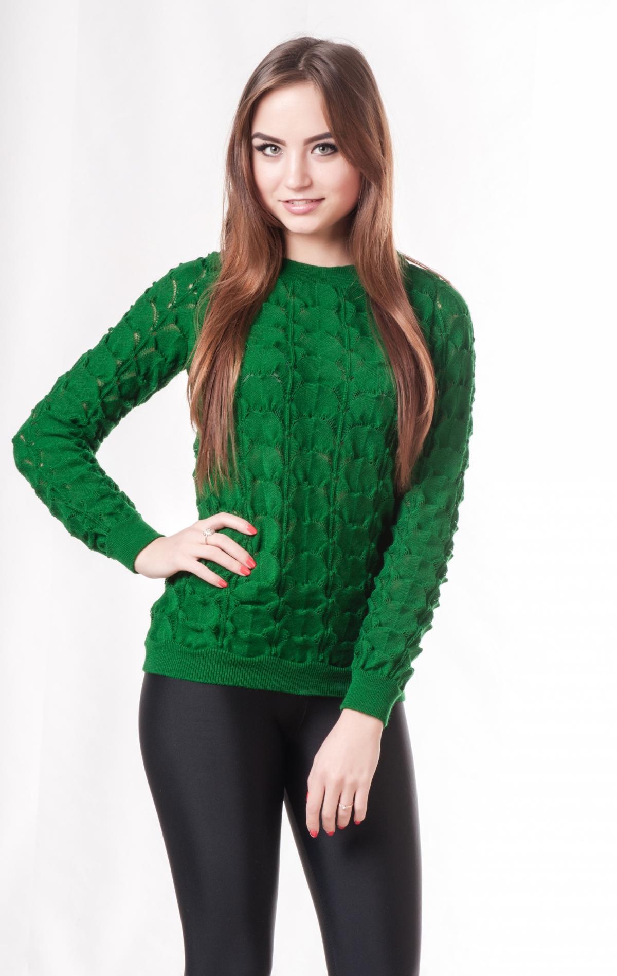Зеленый женский свитер доставка