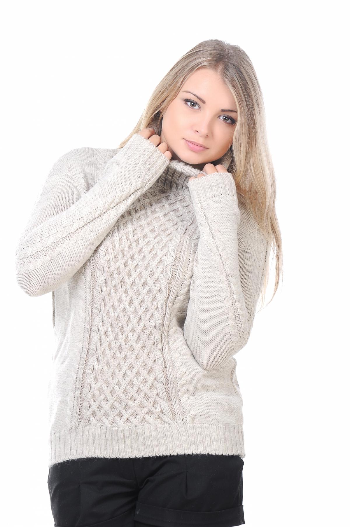 Двухцветный свитер женский доставка