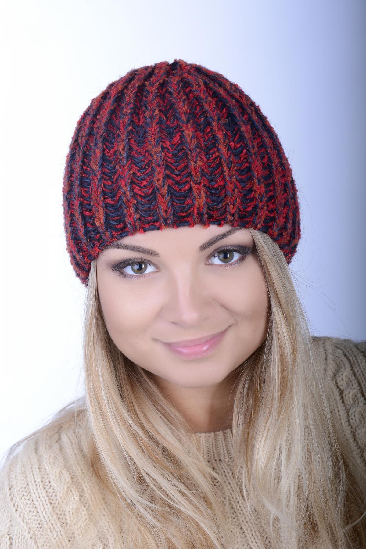 шапки из буклированной пряжи женские купить