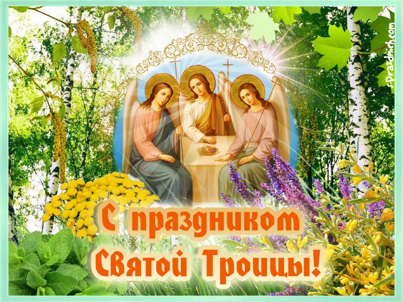 Фотоальбом открытки, картинки с надписью с троицей
