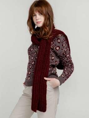 вязаные шарфы и снуды женские купить оптом и в розницу